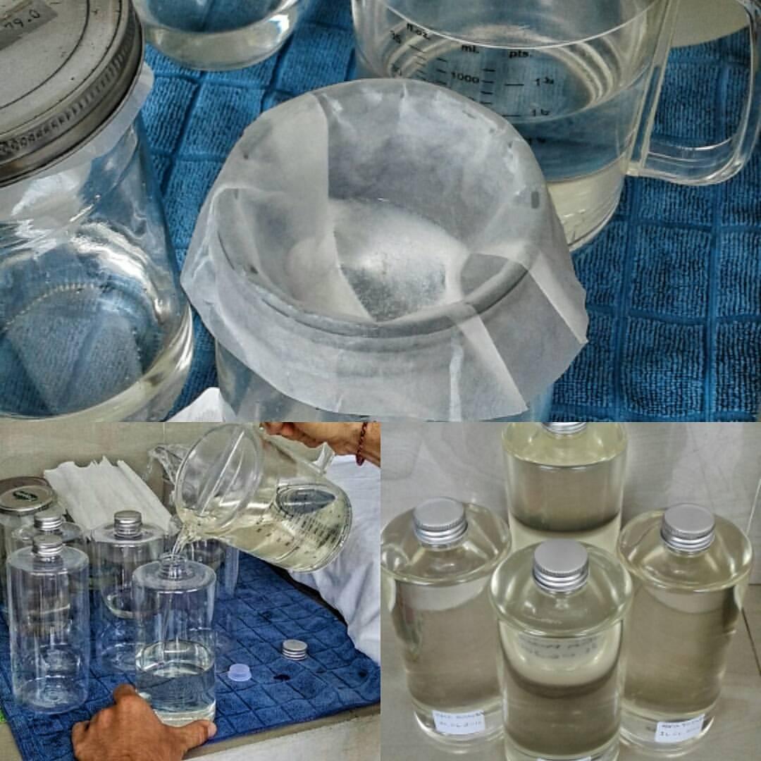 Очистка кокосового масла